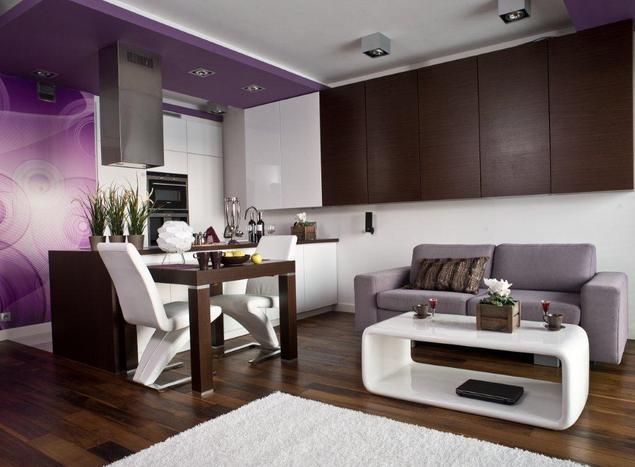 Zobacz galerię zdjęć Aranżacja kuchni otwartej na pokój   -> Meble Kuchnia Salon