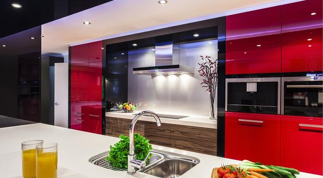 Czerwona kuchnia  fronty lakierowan