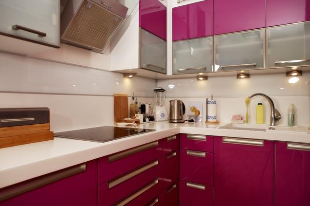 Zobacz galerię zdjęć Mała kuchnia w bloku Nowoczesna   -> Kuchnia Pod Zabudowe W Bloku