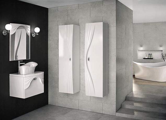 Eleganckie meble łazienkowe ASSO w surowej aranżacji