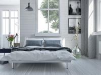 Sypialnia w stylu skandynawskim. Aranżacja pokoju